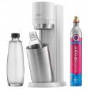 SodaStream DUO White avec 1 cylindre CQC 60 L, 1 carafe en verre de 1 L et 1 bouteille Fuse de 1L 1016812410