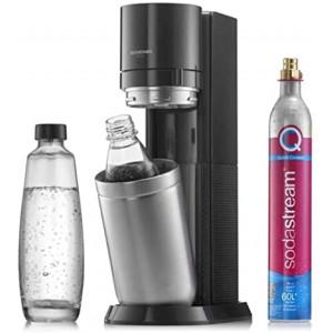 SodaStream DUO Black inkl. 60 L CQC-Zylinder, 1 L Glaskaraffe und 1 L Fuse Flasche 1016812411