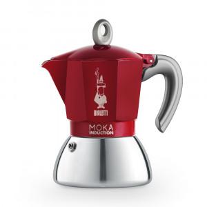 Bialetti Moka Induction rouge 4 tasses