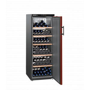 Weinklimaschrank Liebherr Vinothek WKr 4211 schwarz - Tür rot - bis zu 200 Flaschen