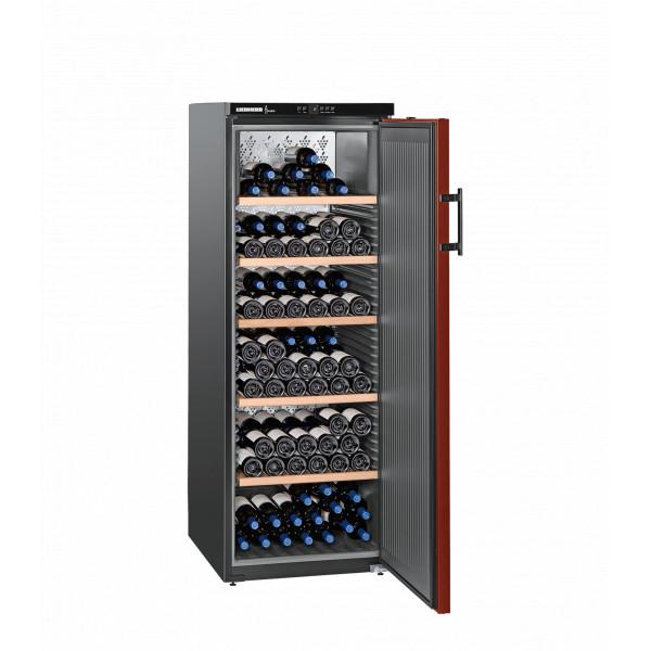Cave à vin Liebherr Vinothek WKr 4211 noire - porte rouge - 200 bouteilles