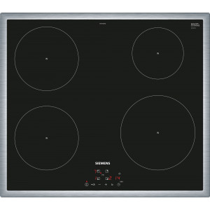 Plan de cuisson vitrocéramique à induction Siemens EH645BEB1E - Design cadre plat