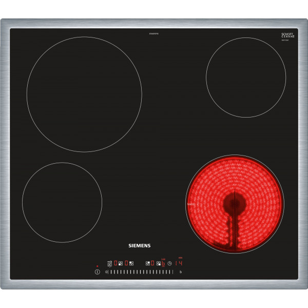 Plan de cuisson vitrocéramique Siemens ET645FEP1C - Desing cadre plat
