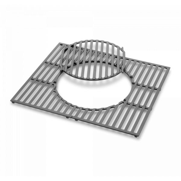 Gourmet BBQ System - Grillrost mit Grillrosteinsatz Weber 8846 Gusseisen