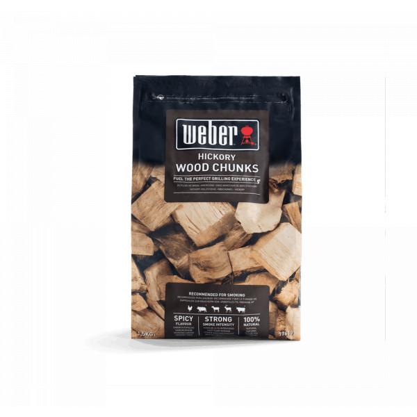 Wood Chunks Hickory Weber 17619 - 1.5 kg