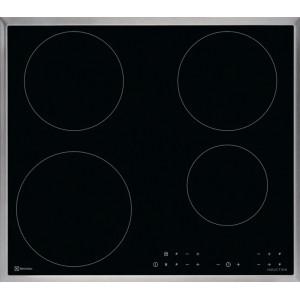 Plan de cuisson vitrocéramique à induction Electrolux à touches sensitives GK58TCICN