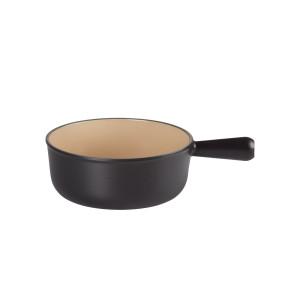 Caquelon à fondue rond Le Creuset 20007220002460 - Ø 22 cm - 2.6 L - noir