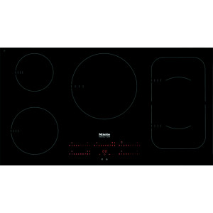 Plan de cuisson vitrocéramique à induction Miele KM 6387 PowerFlex affleurant