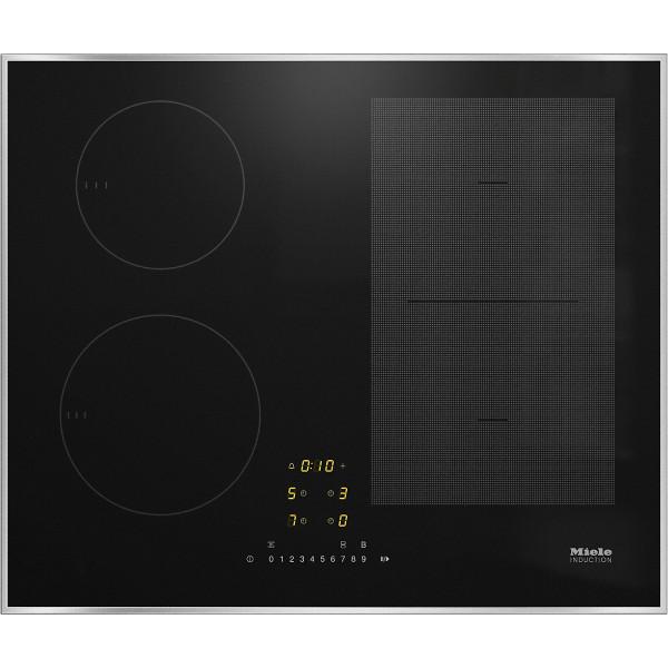 Plan de cuisson vitrocéramique à induction Miele KM 7464 FR cadre inox