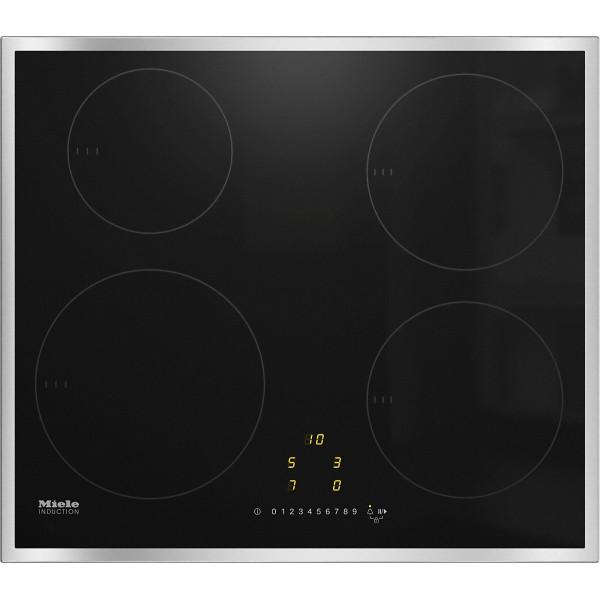 Plan de cuisson vitrocéramique à induction Miele KM 7201 FR cadre inox