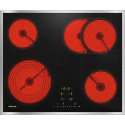 Plan de cuisson vitrocéramique Miele KM 6540 FR Cadre inox