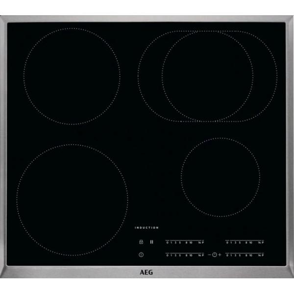 Plan de cuisson vitrocéramique à induction AEG KFA58DIM