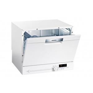 Kompakt Geschirrspüler Siemens SK26E222EU weiss - freistehend