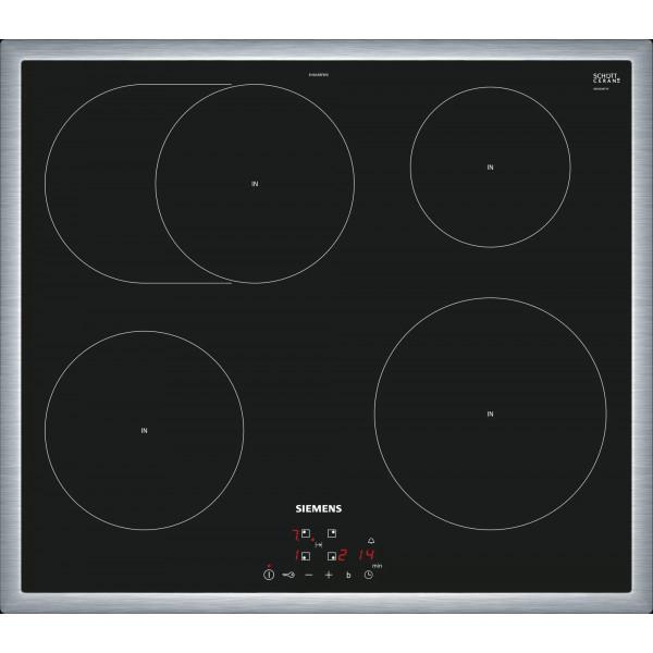 Plan de cuisson vitrocéramique à induction Siemens EH645BFB1E