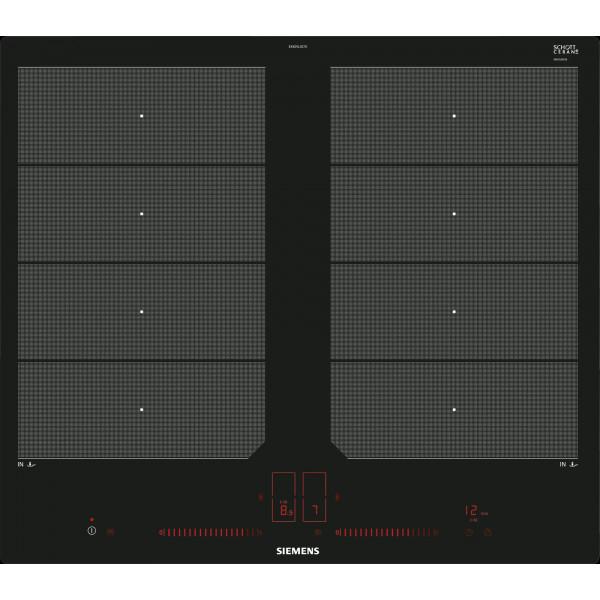 Plan de cuisson vitrocéramique à induction Siemens EX601LXC1E